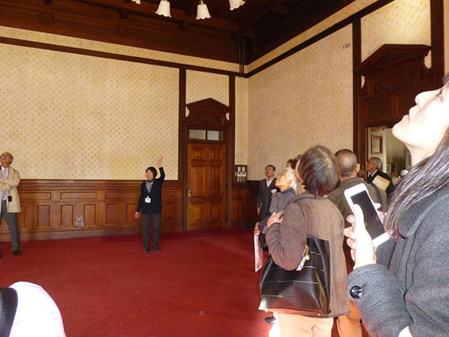 正庁:公式行事や式典など行う部屋