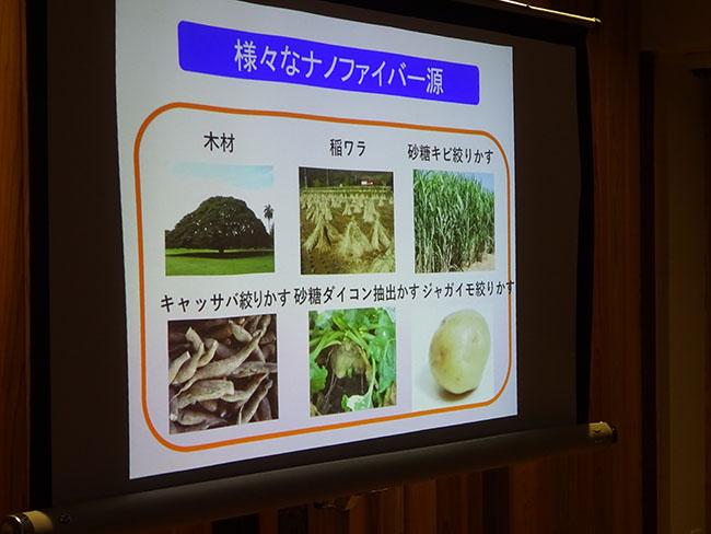 様々な植物がナノ ファイバー源になる