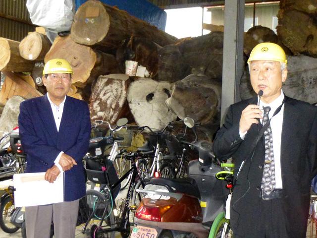 千田社長(右)の挨拶